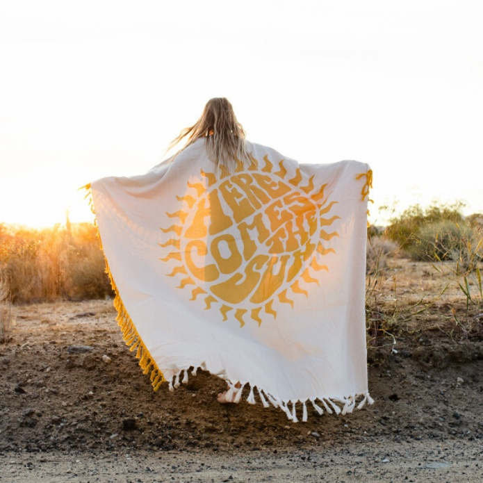 SLOWTIDE ビーチマット HERE COMES THE SUN BLANKET